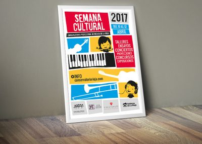 Cartel de la Semana Cultural 2017 del Conservatorio